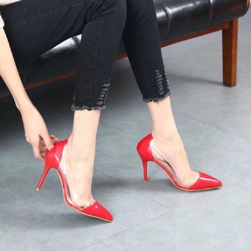 A Nuevos Tacones Zapatos Juego Los De Unidos Acentuados Europa Y Color 2019 Altos Diseñador Con Transparentes Vestir Estados Sexy m8yOvN0nw