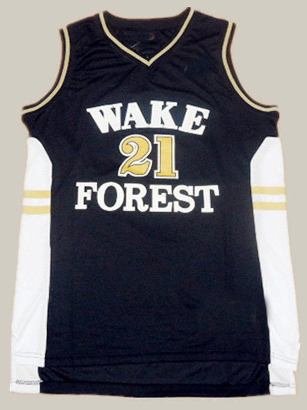 677613aef69 2019 Cheap Wholesale Tim Duncan 21 Wake Forest Demon Deacons College ...