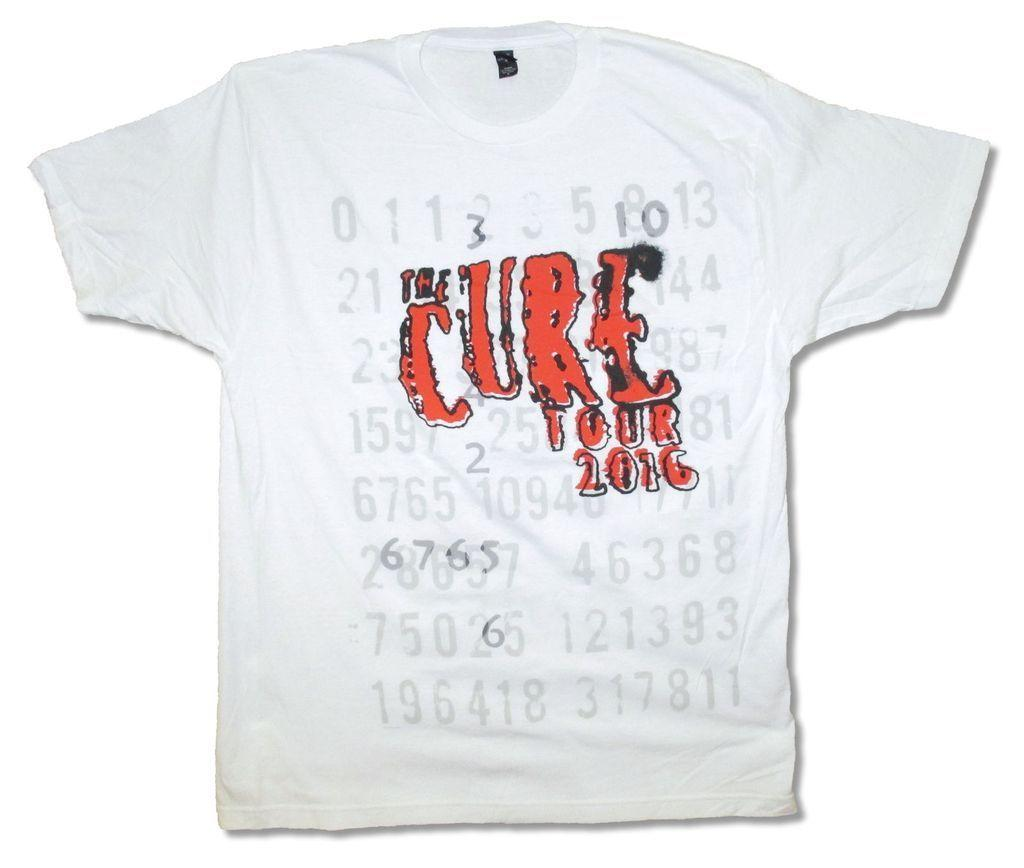 Cure Numbers Tour 2016 Mens White T Shirt New Official Adult 2018 Men'S  Lastest Fashion Short Sleeve Printed funny