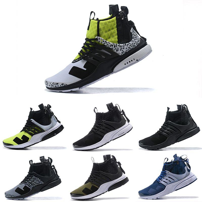 Acronym x Nike Air Presto Mid 2019T 2019 Nouveau Top N K Acronyme x Presto Mid Epic React Respiration Souffle Sport Taille 5.5 11 Hommes Chaussures De