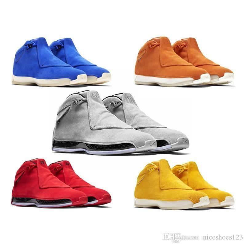 best service 579ea c0f53 Acquista 18 Scarpe Da Basket Sport Royal Men Scarpe Da Basket Toro Gym Rosso  Suede Bianco Blu Nero 18s Mens Scarpe Da Ginnastica Trainer Sneaker Nuovo  ...