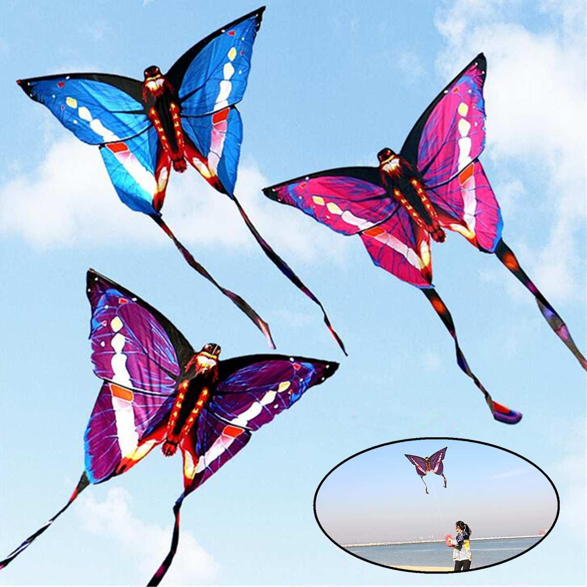 bd038dcecd7dae 2019 Large Beautiful Butterfly Kite Children Kids Toy Outdoor Sports  Butterfly Flying Kite With String Tail Game Sport Gift For Boy From  Windbaby