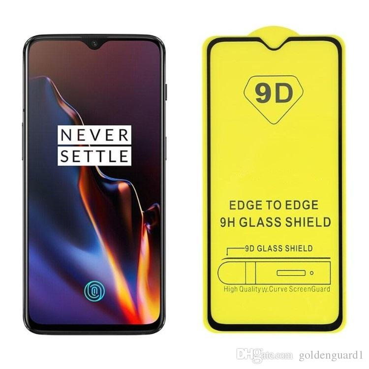9D Full glue Full cover tempered glass screen protector for iPhone xr xs max 8 7 6 Plus Oneplus 7 6T 6 5 5T For Samsung A10 A20 A30 A40 A50