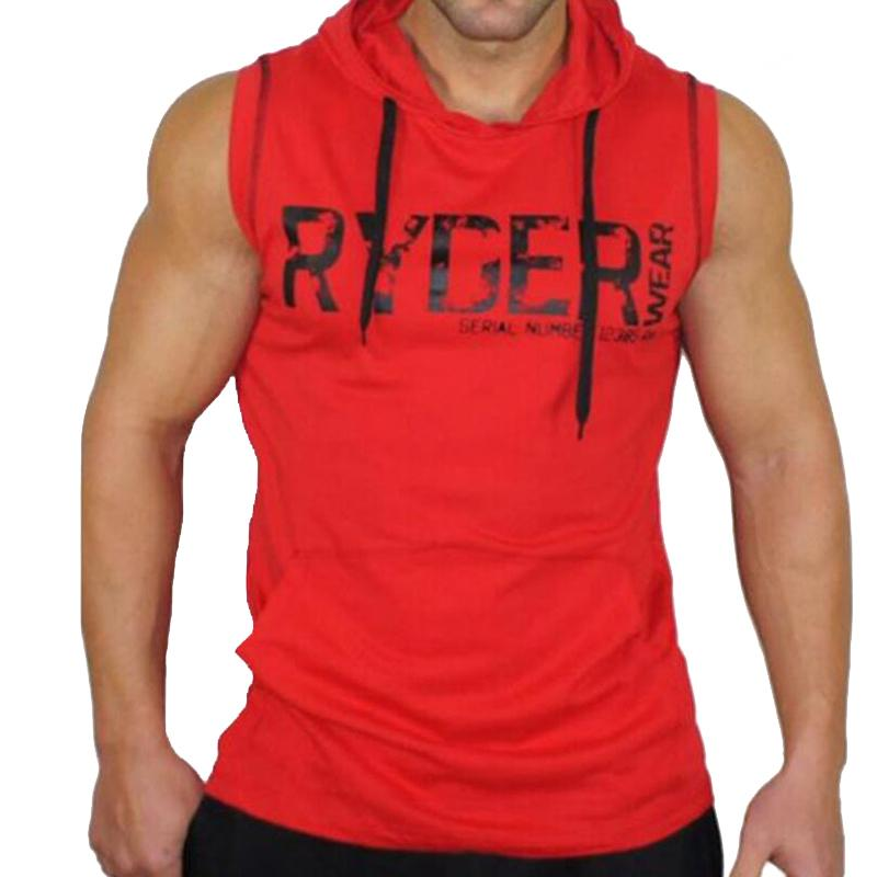 930ea21e3d144 Red Hooded Fitness Tanktop Gym Tank Top Men Tank Top For  Bodybuilding/Sportswear/Body Engineers Sleeveless Clothing Gym Clothing Buy  Cool Shirts Online ...