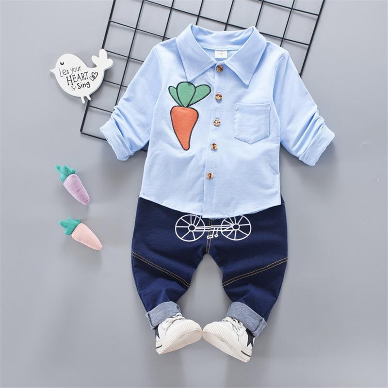 0151e0037f8d 2019 Good Quality New Spring Baby Boys Clothing Sets Fashion Solid ...