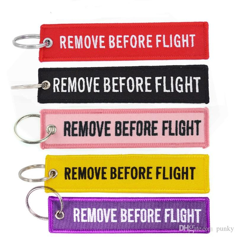 989aa5ce0f Keychain REMOVE BEFORE FLIGHT Embroidered Canvas Color Optional ...