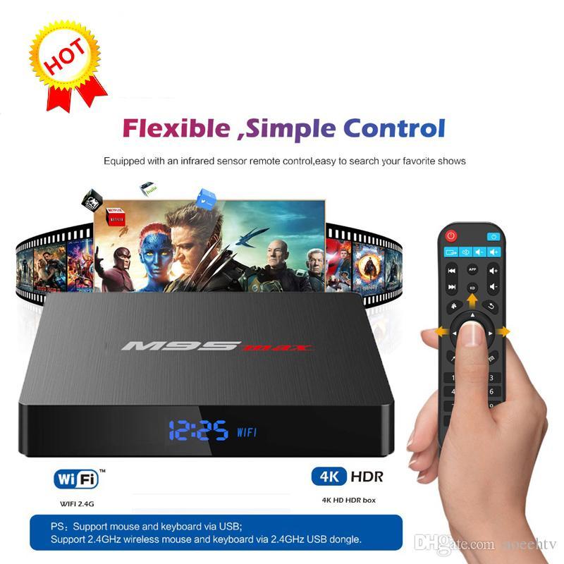 Amlogic S905W M9S MAX Android 7 1 TV Box Quad Core 2GB 16GB Smart Box WIFI  4K Media Player Better MXQ PRO 2GB X96 MAX