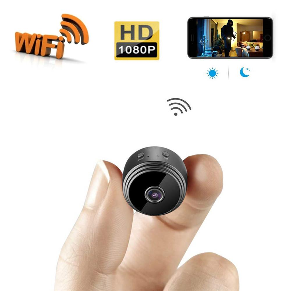 Mini WiFi Camera Wireless HD 1080P Indoor Small Cam Security Camera/Nanny  Cam with Motion Detection Night Vision for iOS/Android/iPad/PC