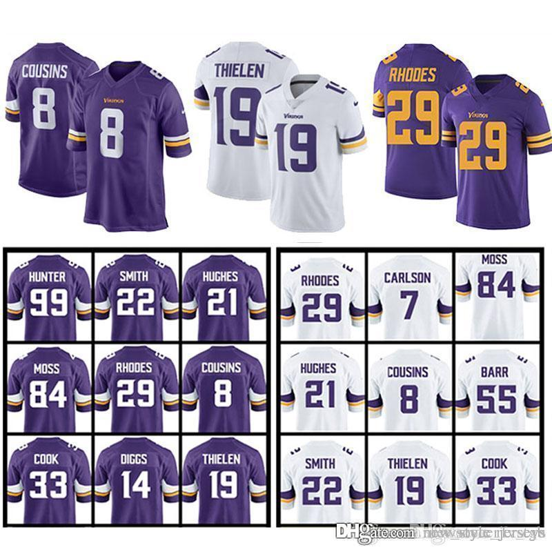 best sneakers f3f44 40cc4 MINNESOTA 14 Stefon Diggs VIKINGS jerseys 8 Kirk Cousins 19 Adam Thielen 22  Harrison Smith 99 DANIELLE HUNTER jersey 82 Kyle Rudolph