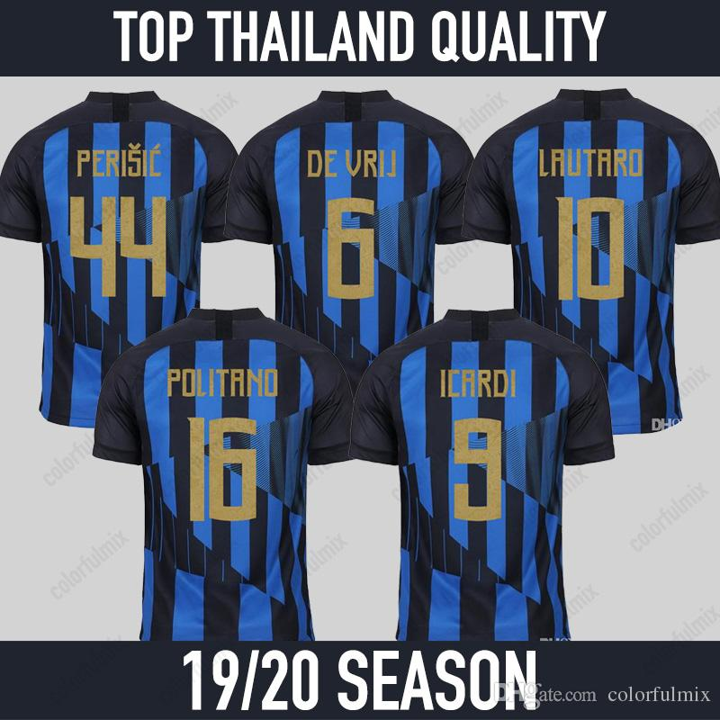 1d49cf23a56 2019 18 19 LAUTARO ICARDI PERISIC NAINGGOLAN Inter Milan Jersey Inter 20  Anniversary Soccer Jerseys 2018 2019 DE VRIG Maillot De Foot From  Colorfulmix, ...