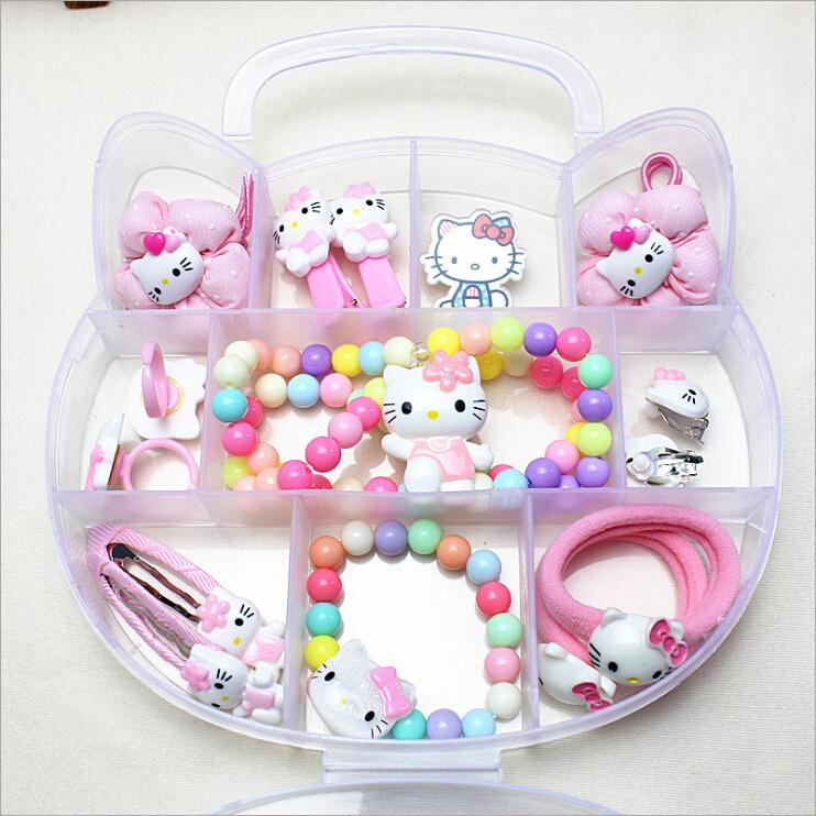 ef9d2640b 2019 1 Gift Set Hello Kitty Accessories For Baby Children Girls Hair Clip  Barrette Rubber Band Hairgrip Tiara Headdress Accessories C19010901 From  Shen84, ...