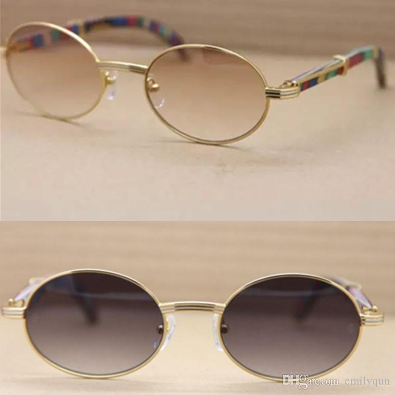 09652093a1d Luxury Brand Natural Peacock Wooden Legs Sunglasses Retro Round Sun ...