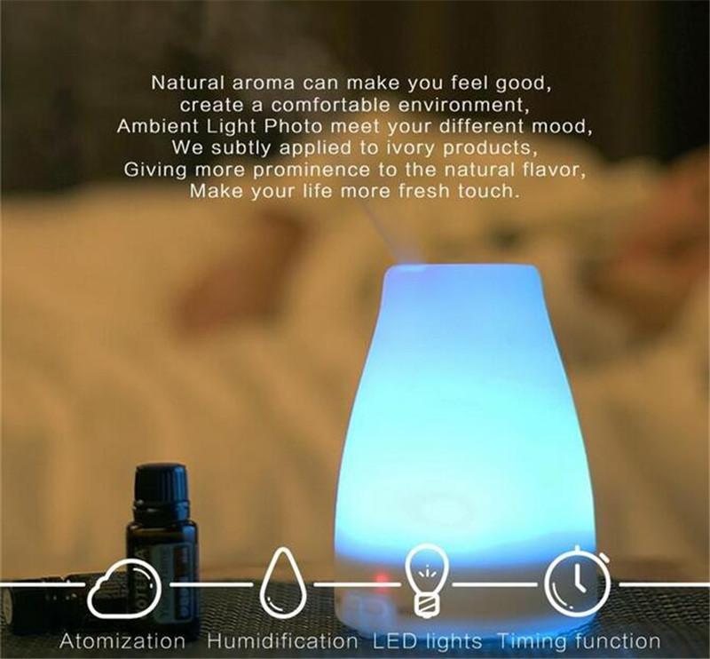 عالية الجودة 100ML 7 لون LED المرطب الناشر لالناشر الروائح بالموجات فوق الصوتية الناشر الزيت العطري دي إتش إل الحرة