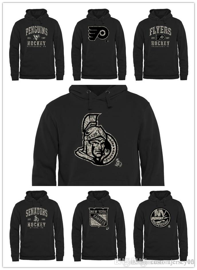 low priced c6484 fe1f7 2018 New Sweater Men Islanders Rangers Senators Philadelphia Flyers  Pittsburgh Penguins Black Ice Rink Warrior Pullover Hoodies