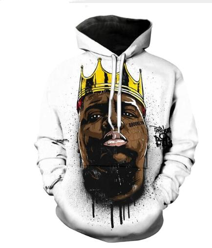 2019 Newest Rapper Notorious B.I.G. Biggie Smalls Tupac 2pac 3D Print  Hoodies Fashion Clothing Women Men Funny 3D Hoodiest Casual Pullovers K474  From ... bd36060a0