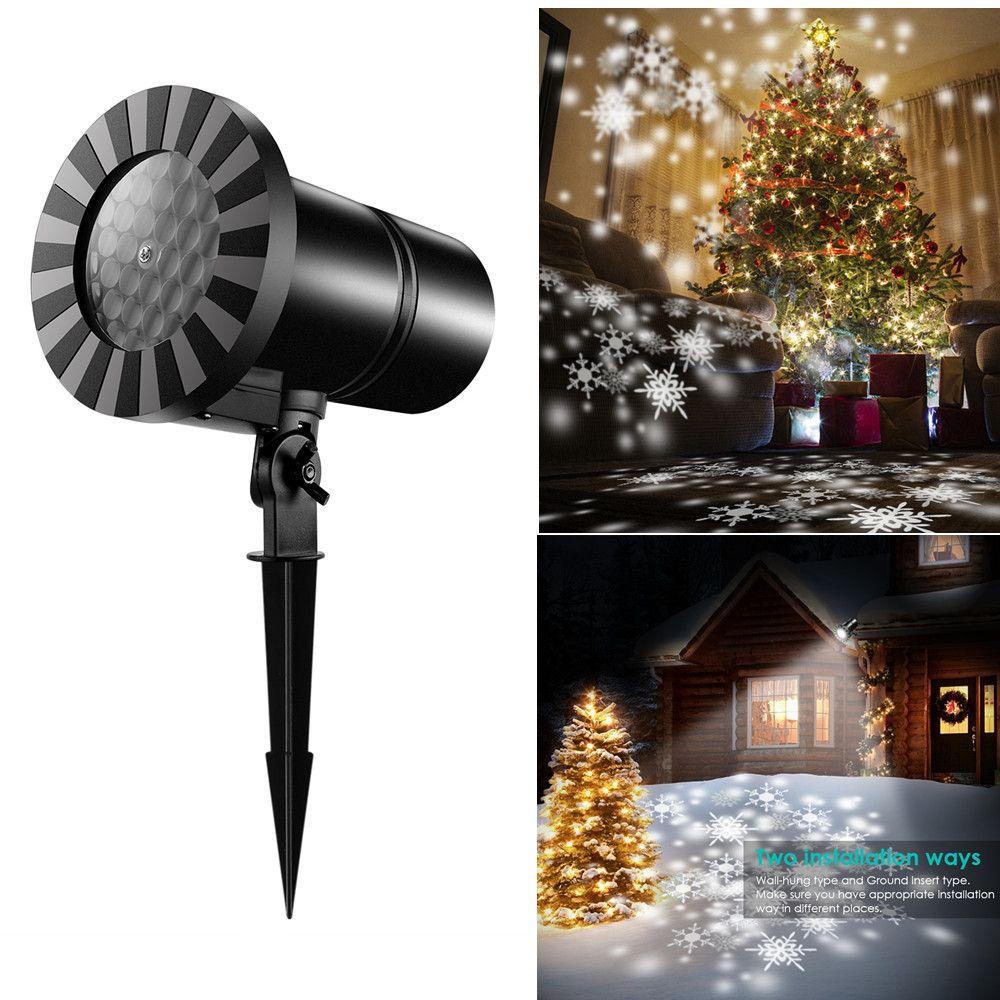 5c2b0a1acd2 Compre IP65 Mini Snowfall Projector Moving Snow Jardín Exterior Proyector  Láser Lámpara Navidad Copo De Nieve Luz Láser Para Fiesta De Año Nuevo A   37.76 ...