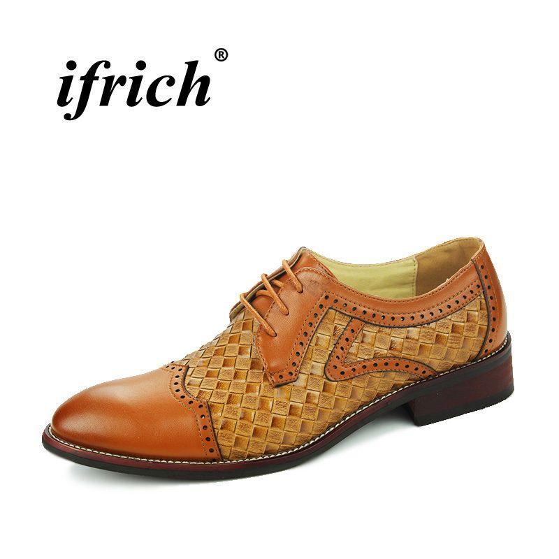 Compre Moda Novio Zapatos De Boda Negro Marrón Tallado Ocasional Zapatos De  Negocios Aumento De La Altura Hombres Oxford Zapatos Formales Brogue  Calzado A ... 4e516c16f358