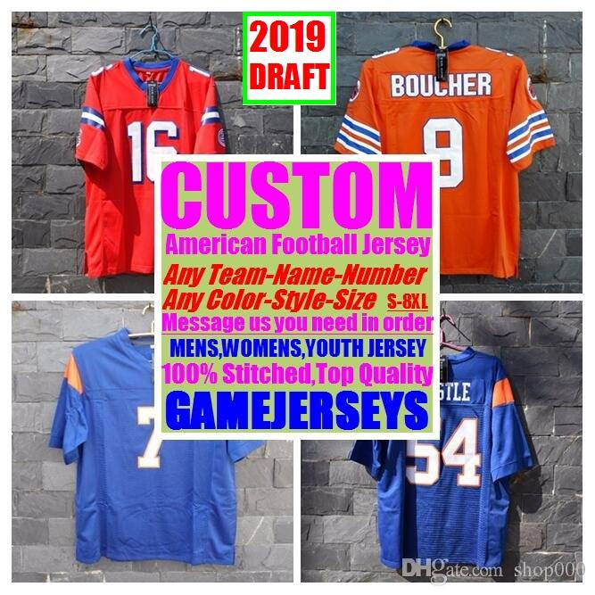 half off 14279 71578 Customized american football jerseys college cheap authentic rugby retro  sports jersey stitched mens womens youth kids 4xl 5xl 6xl 7xl 8xl