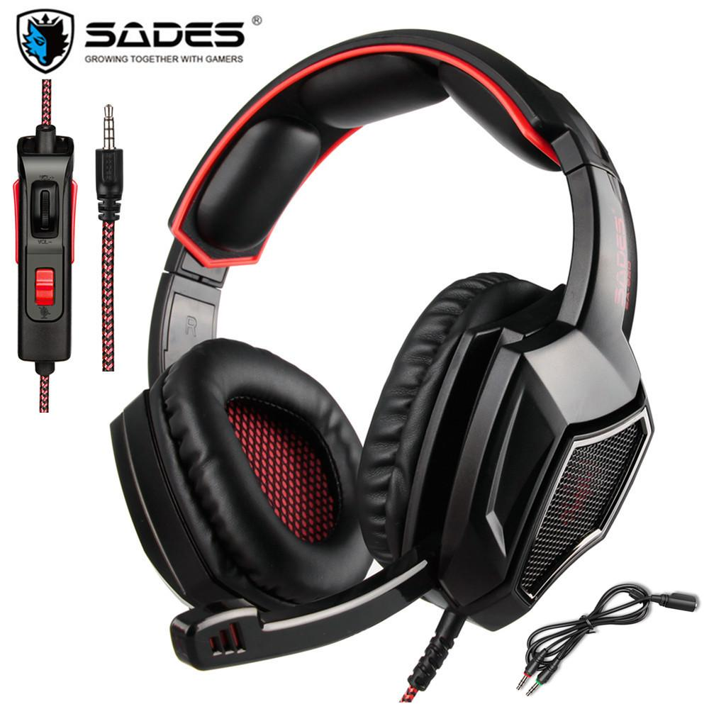 5eb087bb9ad SADES SA920 Plus PS4 Gaming Headset Gamer Bass Headphones With Mic For Xbox  One Switch PC Phone PUBG Game Headset Stereo Casque Wireless Headphones For  Tv ...