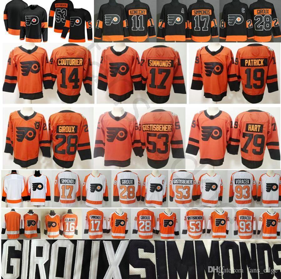 reputable site 8b87f 6d062 2019 Stadium Series Philadelphia Flyers Jerseys 79 Carter Hart 14 Couturier  28 Claude Giroux 17 Simmonds 19 Patrick 53 Shayne Gostisbehere