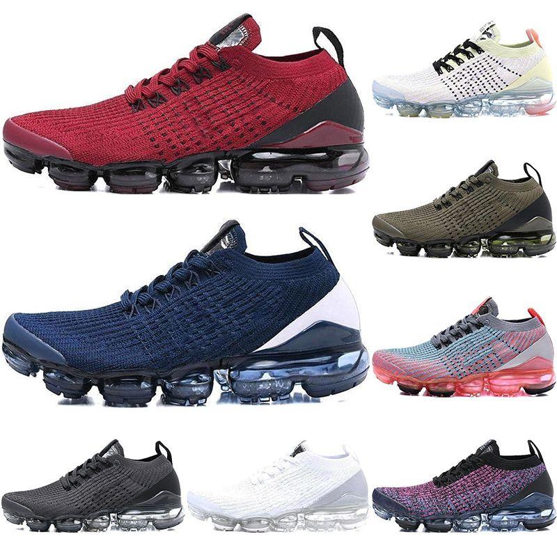 reputable site d1cee 866fa Acheter Coussin 2018 Nike Air Vapormax Flyknit 3.0 Chaussures De Course  Hommes Femmes Classique Triple Noir Blanc Baskets Sport Running 3 Designer  ...