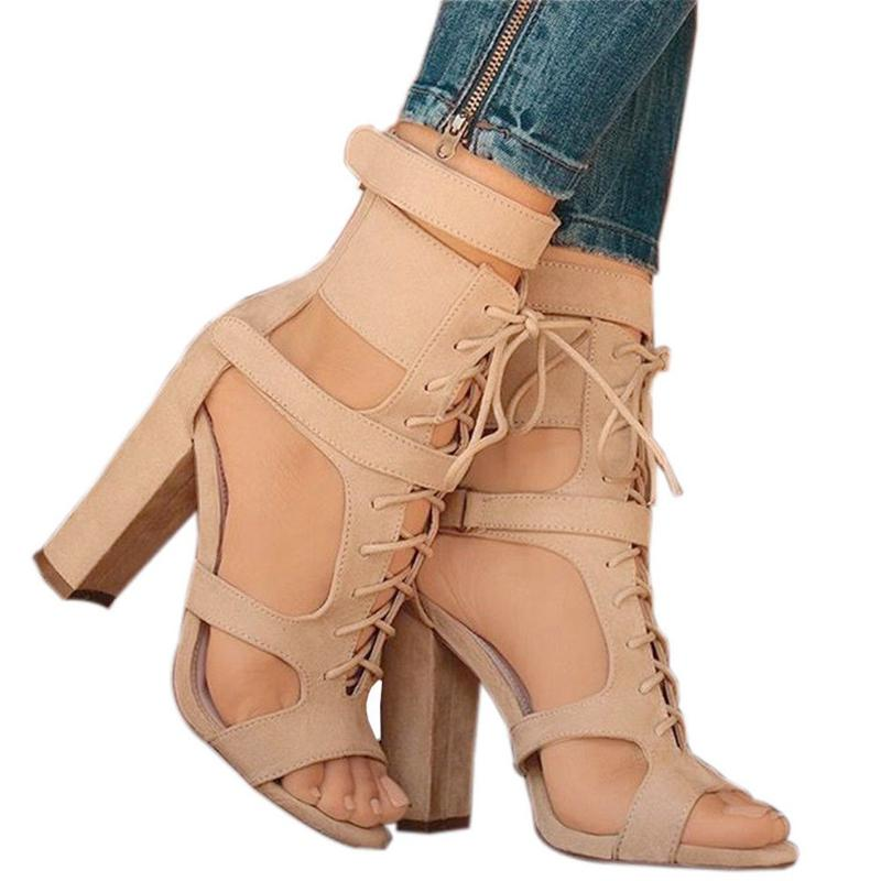 Fancy Black Line Buckle Style Block Heels Dress Sandals Fashion Open Toe Chunky  Heel Sandals Women Fashion Shoes Knee High Gladiator Sandals Sandals For ...