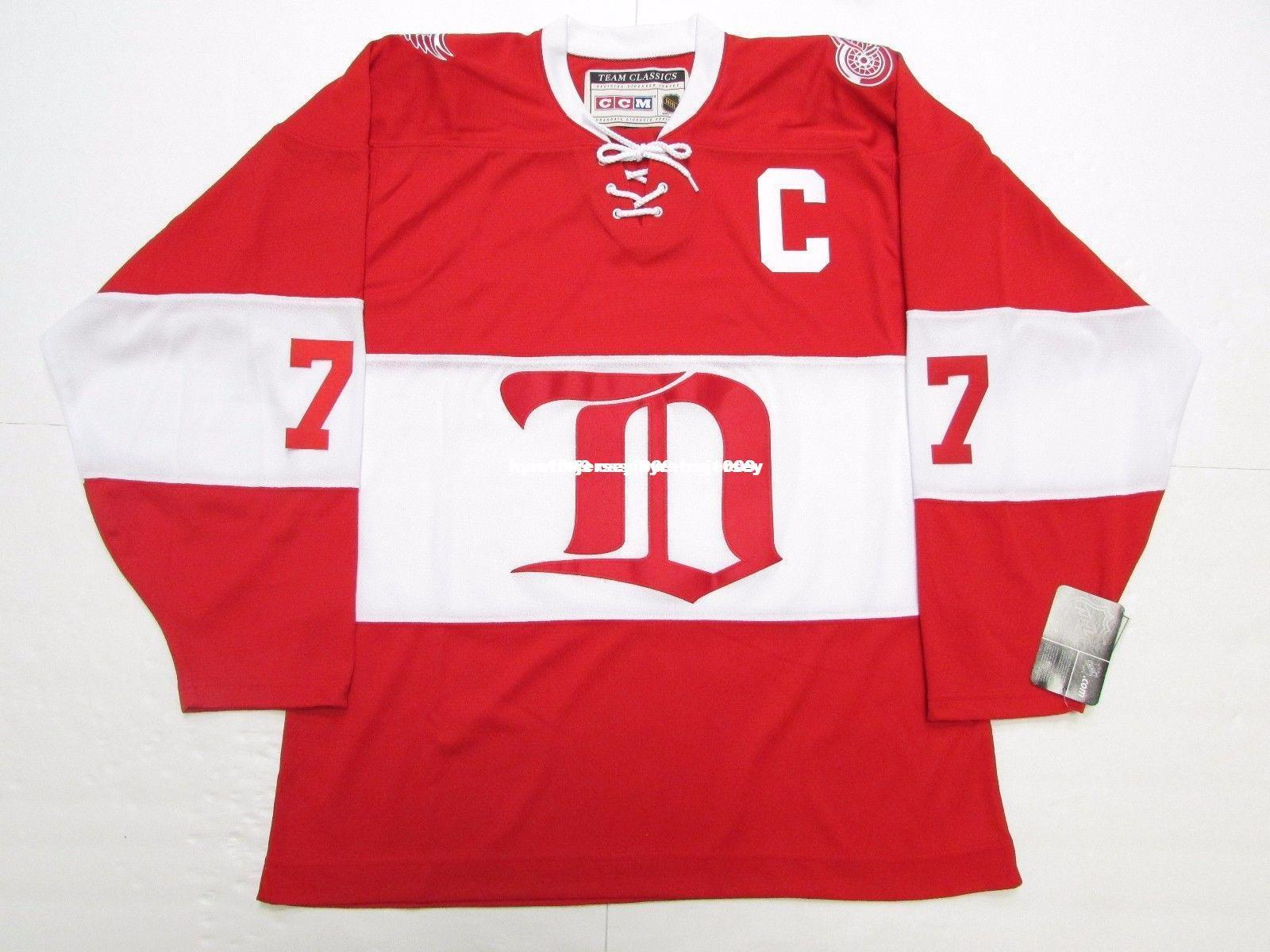 61792d0e 2019 Cheap Custom TED LINDSAY DETROIT RED WINGS ALUMNI VINTAGE CCM HOCKEY  JERSEY Stitch Add Any Number Any Name Mens Hockey Jersey GOALIE CUT 5XL  From ...