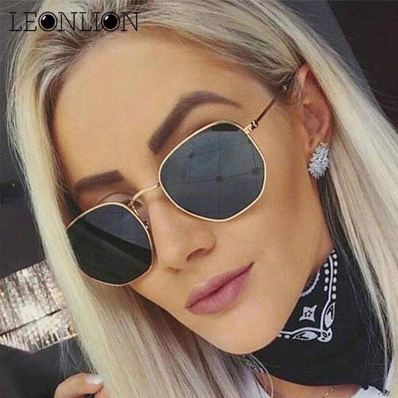 28da34fe1e LeonLion 2019 Polygonal Sunglasses Women Glasses Lady Luxury Retro Metal Sun  Glasses Vintage Mirror Oculos De Sol Feminino UV400 C18122501 Cheap Designer  ...