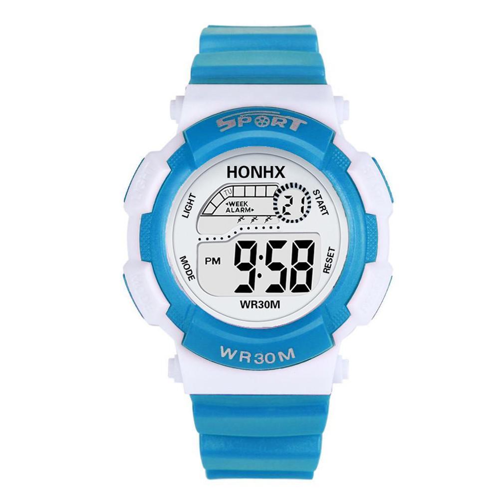 ea0b95e0777e Compre Inteligente Relojes Digitales Para Niños Moda LED Reloj De Cuarzo  Analógico De Goma Fecha De Alarma Deportes Hebilla De Corchete Reloj De  Pulsera ...
