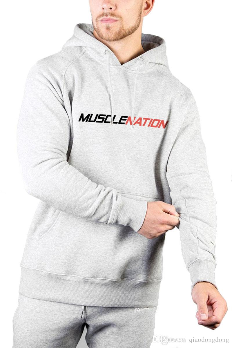d6c82b9b3e 2019 HOT Muscle Fitness Brothers Leisure Loose Hat Guard Sleeve Sports  Outdoor Long Sleeve Cotton Top Letters Gym Hoodie Letter Online with   24.8 Piece on ...