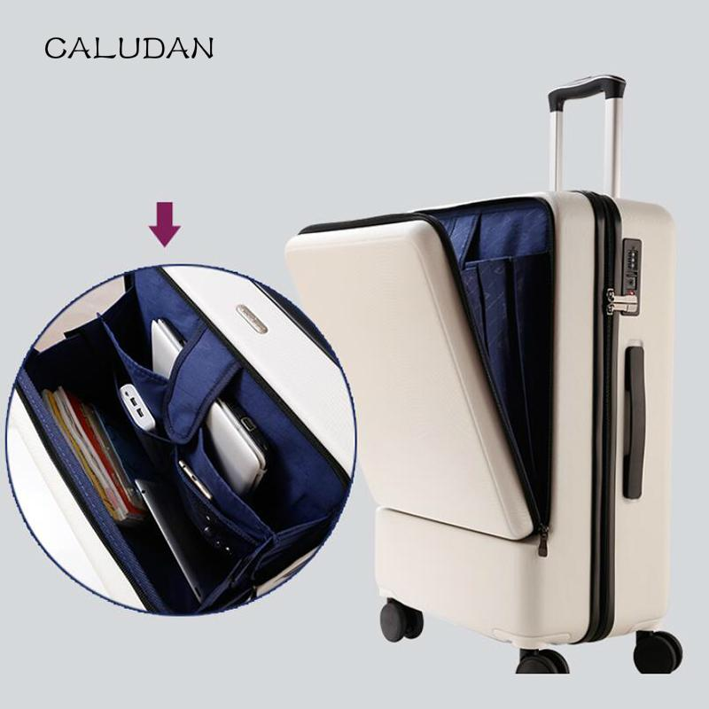 "CALUDAN ABS pc computer cabin travel suitcase 20"" TAS LOCK carry on hand luggage on wheel"