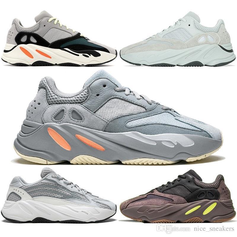 06a4c778c46b9 2019 700 Wave Runner Running Shoes Men Women Inertia Mauve Static Salt  Geode Triple Black White Kanye West V2 Designer Sport Sneaker Size 5 11 From  ...