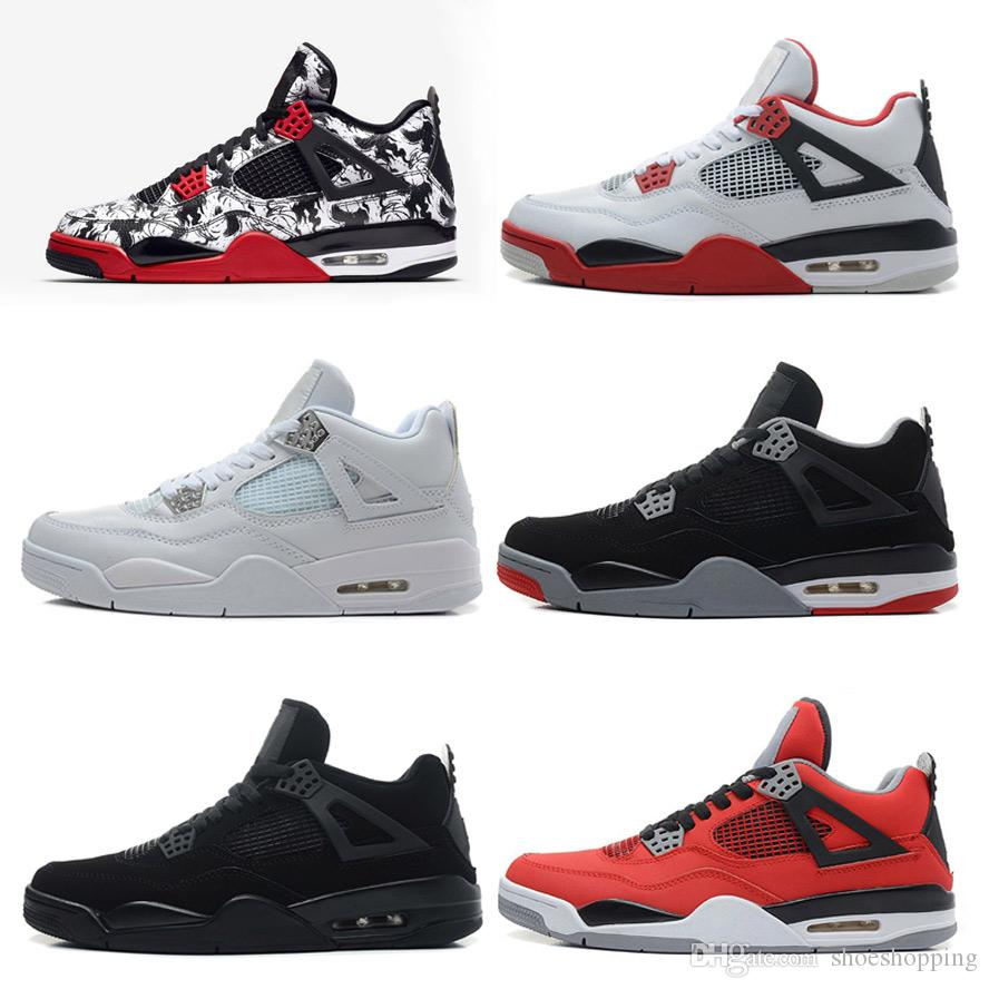 c91bea52981422 4 4s Asketball Shoes Mens Sneakers Tattoo White Cement Pure Money B ...