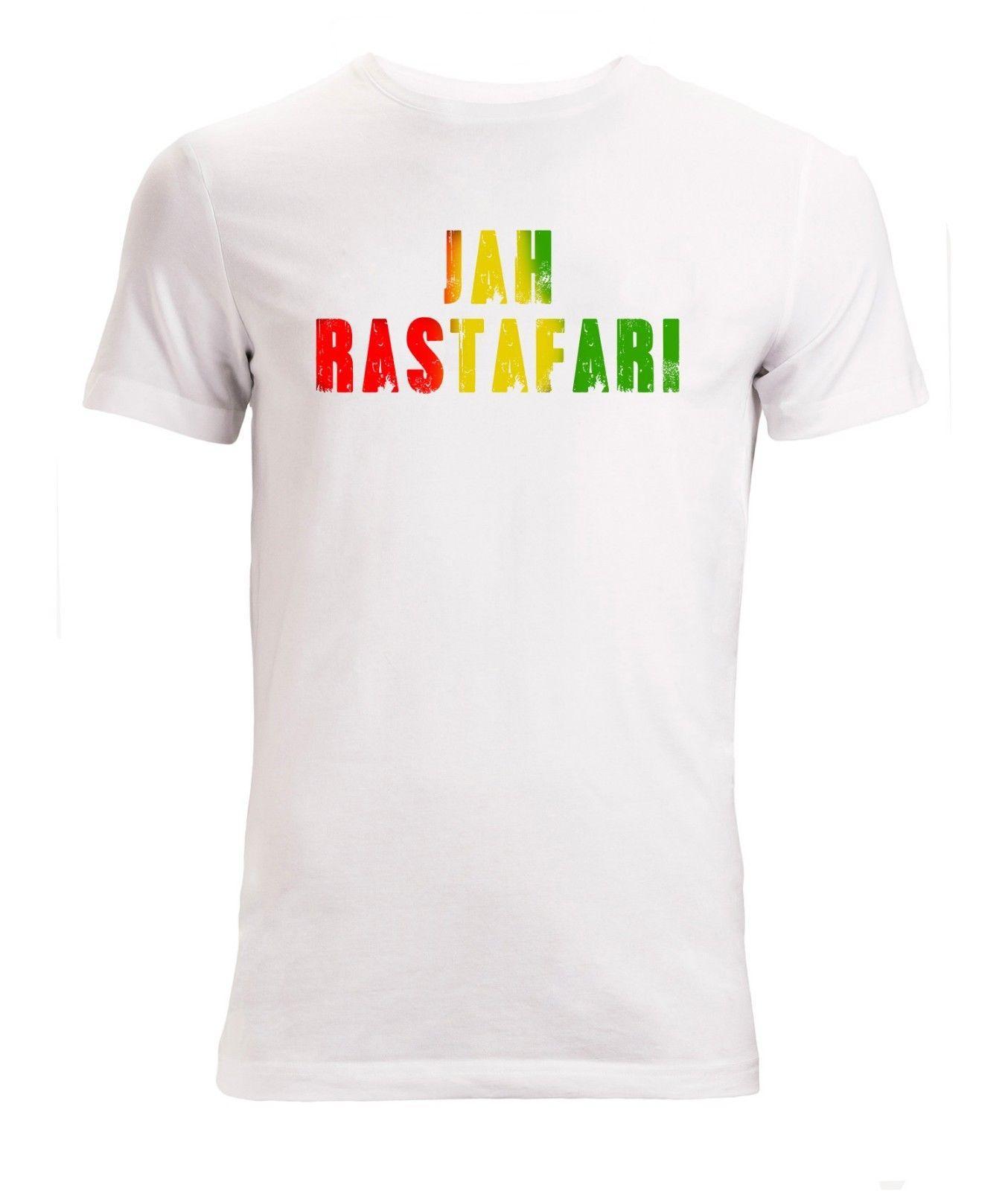 022035f930a674 Großhandel Jah Rastafari Graphic Slogan Herren Weiß T Shirt Größen S XXL  RETRO VINTAGE Klassisches T Shirt Von Shortcup