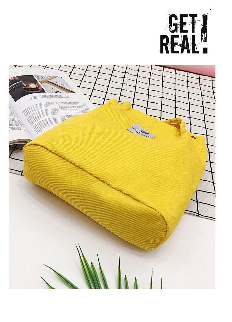 2018 New Shoulder Bag Female Women Corduroy Shopper Tote Ladies Casual Lady's Bag Foldable Reusable Shopping Beach Bag Sac Femme