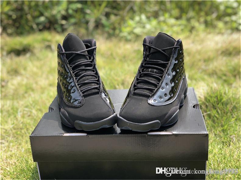 6071e855fec 2019 Top 13 Cap And Gown Men Basketball Shoes 13S Blackout Real ...