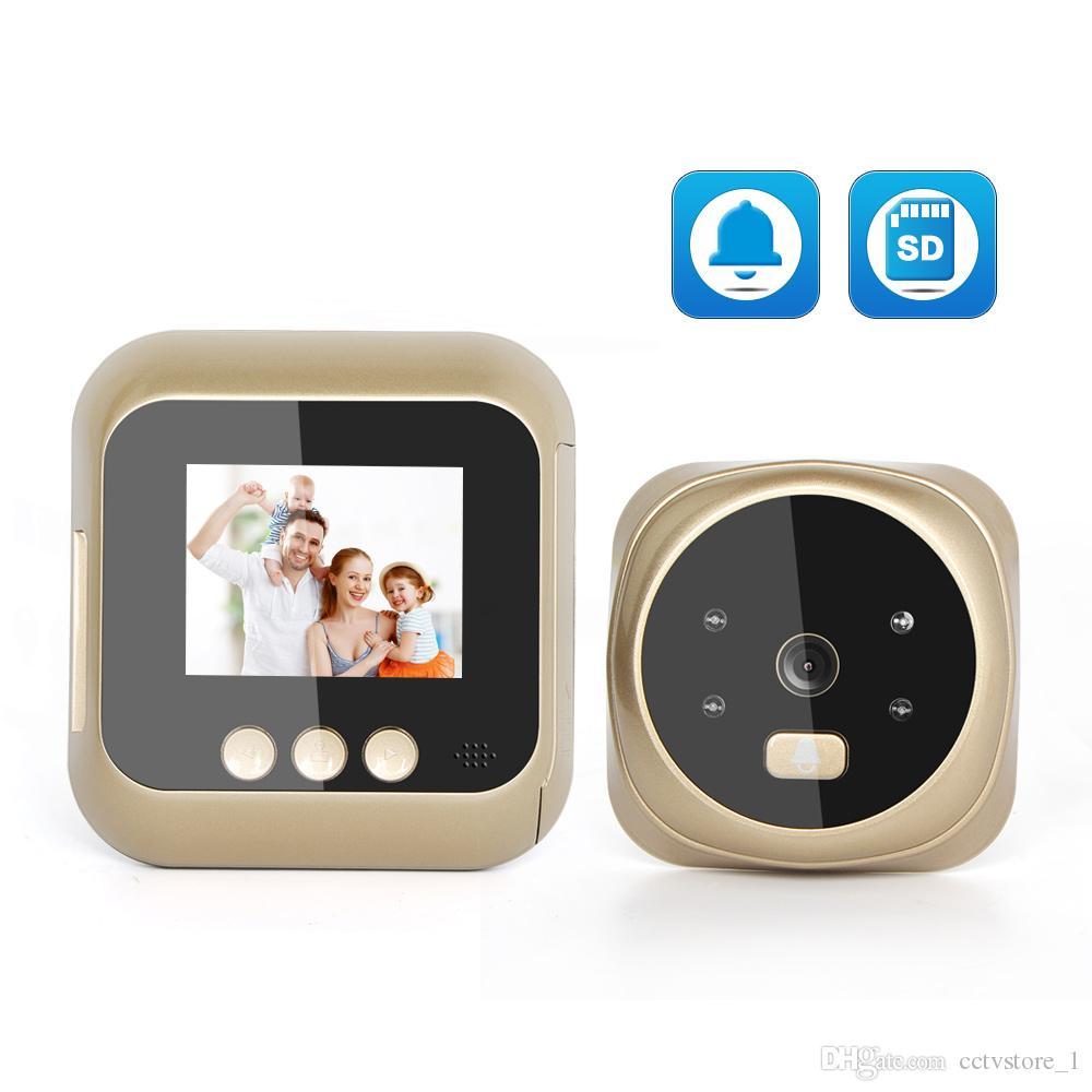 Kapı zili 2.4 inç Dijital Kapı Zili LCD Renkli Ekran 135 Derece Gece Görüş video peephole Görüntüleyici Kapı Zili Açık Kapı zili
