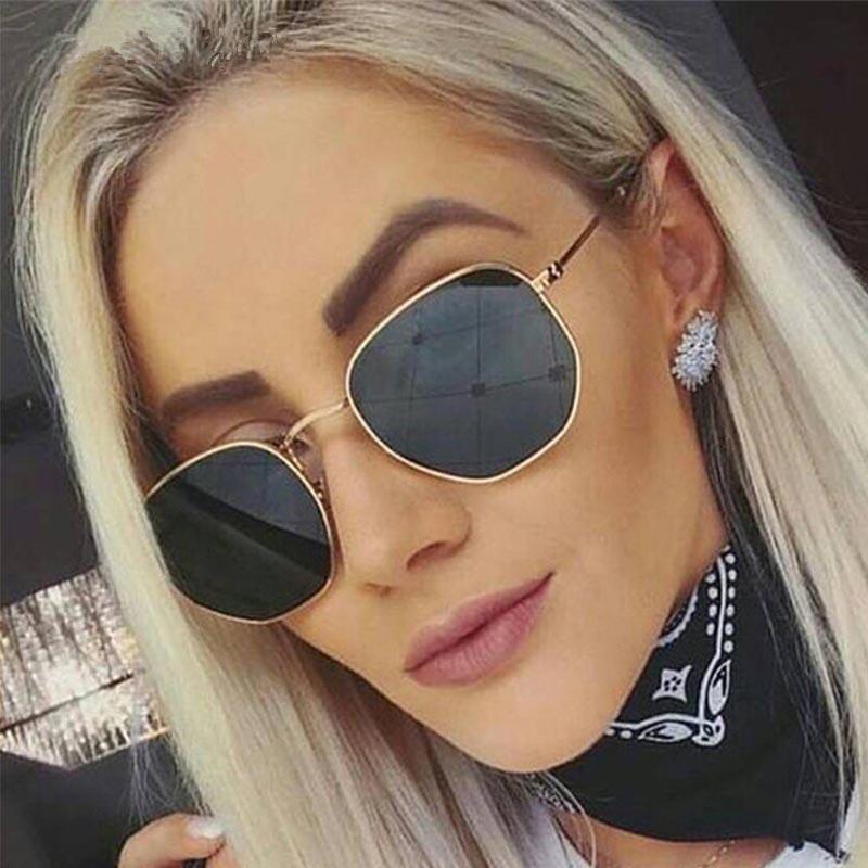 6a67b5d2dd 2019 Luxury Brand Square Sunglasses Women Hue Retro Vintage Fashion Sun  Glasses For women s Sunglass Female Lady lunette soleil