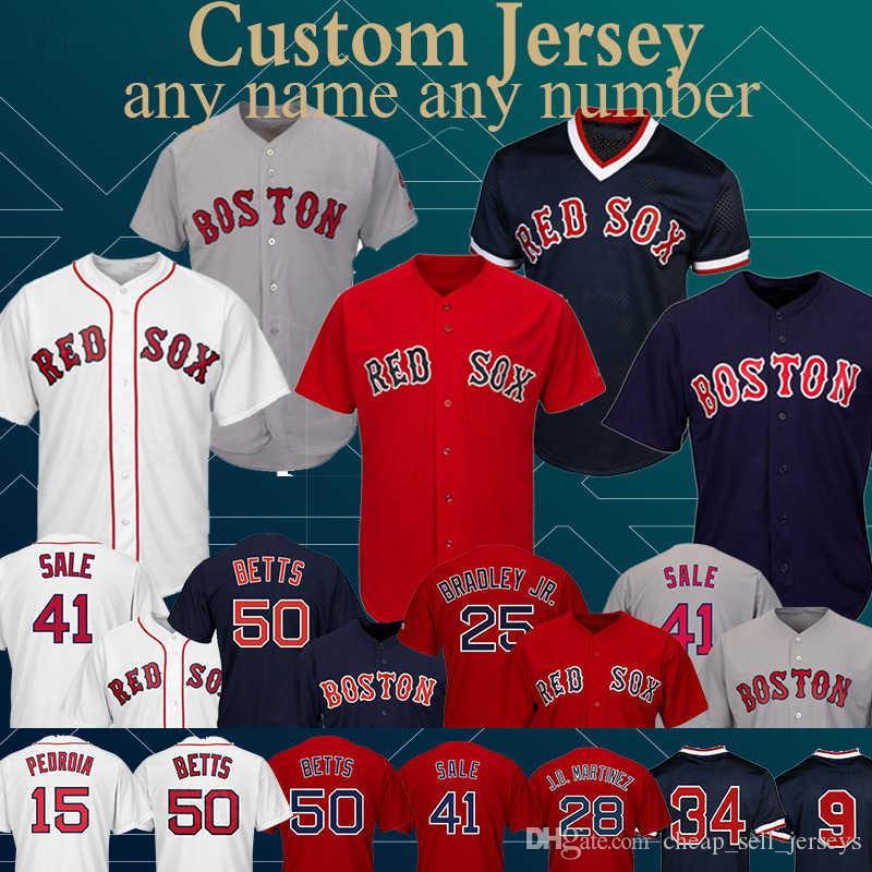 d0ff861c4ad 2019 Customized Boston Jersey Red Sox 32 Matt Barnes 16 Andrew Benintendi  50 Mookie Betts2 Xander Bogaerts 70 Ryan Brasier 54Colten Brewer From ...