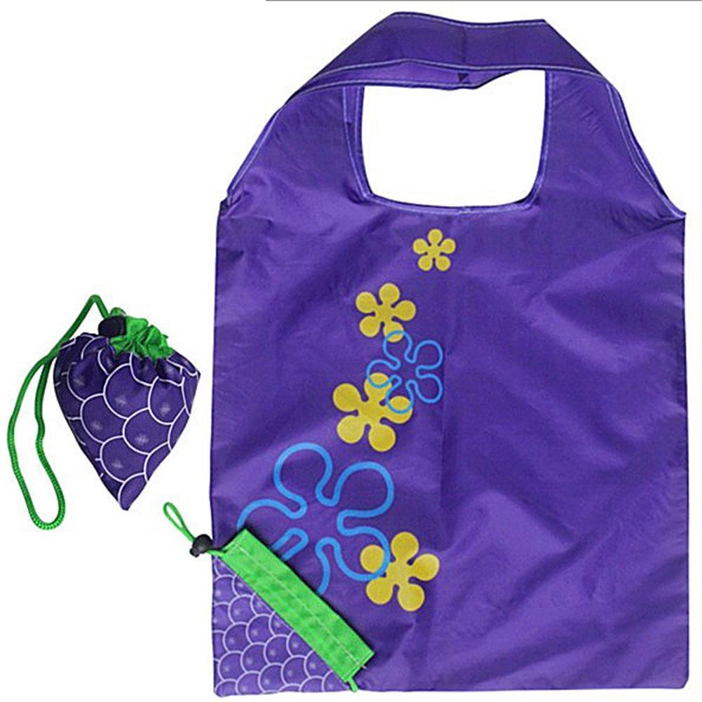 50337e9d0 Grape Eco Friendly Folding Shopping Bag Supermarket Large Storage Reusable  Grocery Totes Pouch Handbags Foldable Shopping Bags Promotional Bags String  Bags ...
