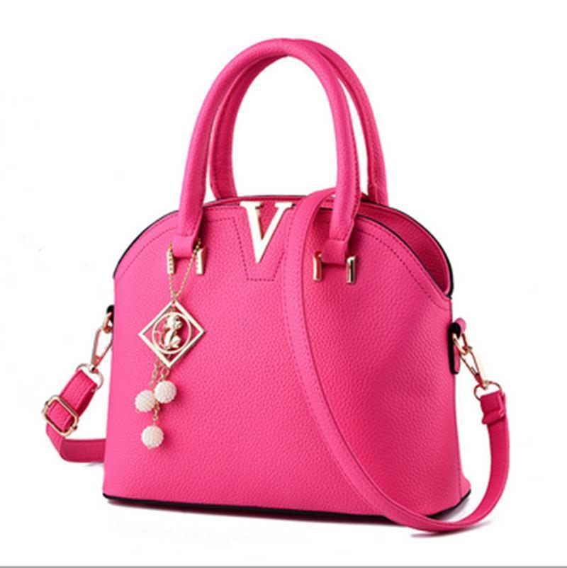 e823a08699 Korean Style Luxury Women Bag Designer Handbags Women PU Leather Shoulder  Bags Shell Shaped Tote Large Messenger Bags Fashion Bags Designer Handbags  On Sale ...