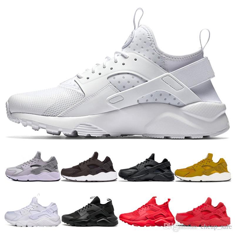 22fb023660a4 Cheap Huarache 4.0 1.0 Triple White Black Red Grey Men Women ...