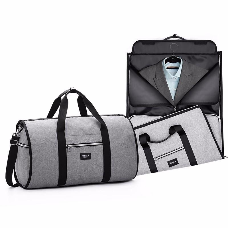 Travel Garment Duffle Bag Men Weekend Bag Suitcase Suit Business Travel  Organizer Foldable Shoulder Trip Luggage Pack 2 In 1 Travel Bags For Women  Mens ... 7ce8c99102edc