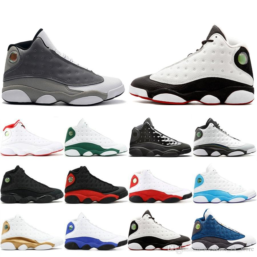 1e3526ba New Classic 13 13s Cap And Gown Basketball Shoes Atmosphere Grey For Men  Phantom Flint DMP Chicago Black Cat Mens Trainers Sneakers 8-13