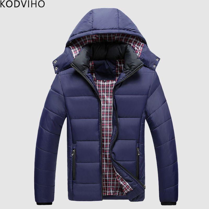new concept c47df 4893a Winter Jacket Men Puffy Parka Mens Padded Winter Jackets Man Puffer Warm  Coat Men s Qulited Overcoat Mental Herren Parkas Coats