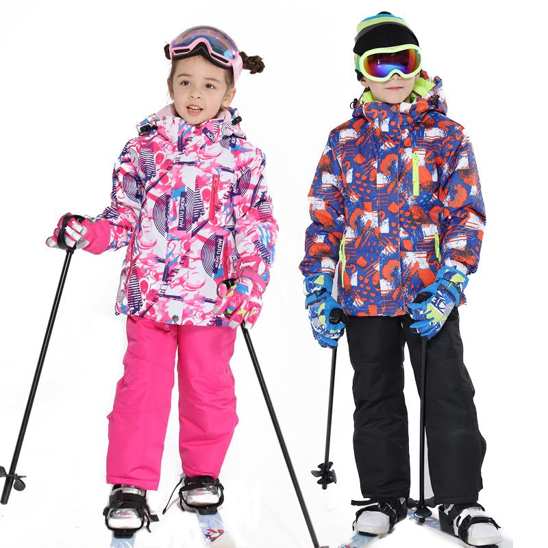 281e788934b0 2019 Kids Ski Suit Children Brands Windproof Waterproof Warm Girls And Boy  Snow Set Pants Winter Skiing And Snowboarding Jacket Child D19010901 From  Tai01