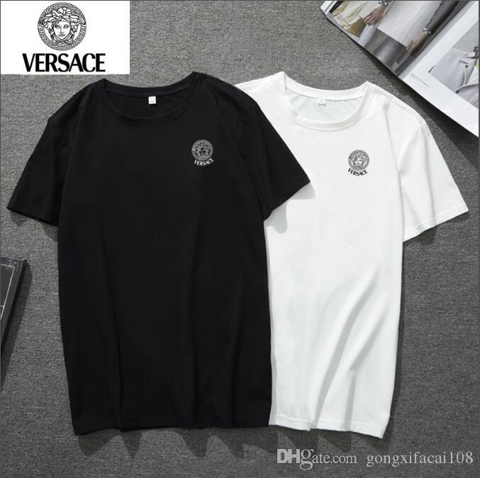 0fcb0a480 NEW 2019 Brand VERSACE T Shirt Mens Sweatshirts With Branded Letters Luxury  Designer For Men Sleeve Pullover Coat Clothing SIZE M 5XL Funny T Shirt  Awesome ...