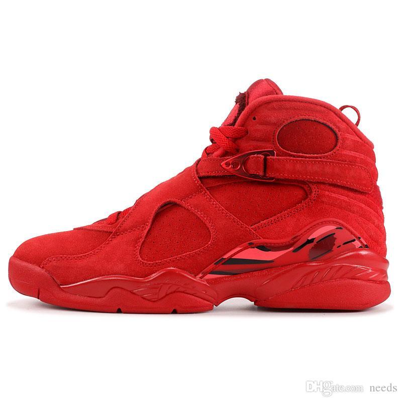 b6e6c5d99eb 2019 8 VII 8s VALENTINES DAY Red AQUA CHROME Mens Basketball Shoes ...