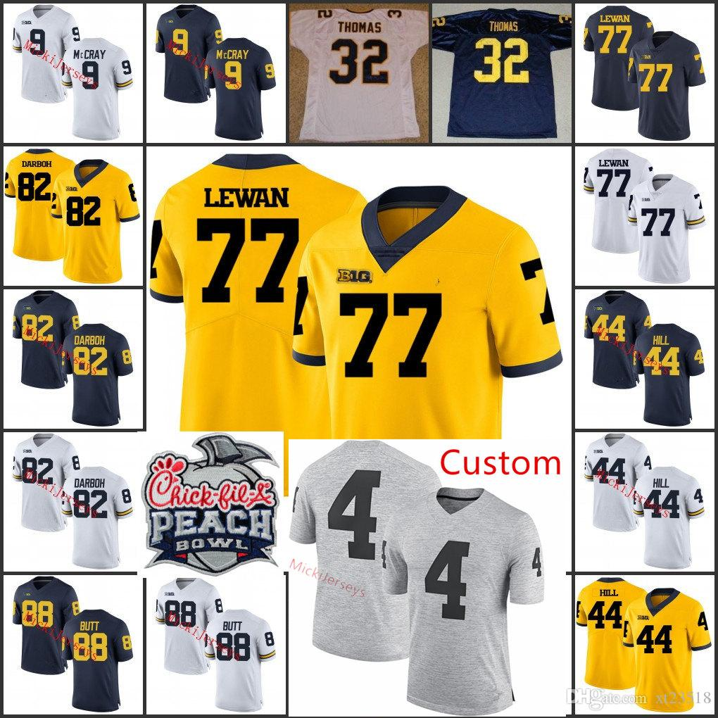 the latest edd6e 60332 Custom NCAA Michigan Wolverines Jake Butt Football Jersey Anthony Thomas  Kwity Pay Maurice Hurst Patrick Kugler Taylor Lewan Garrett Moors