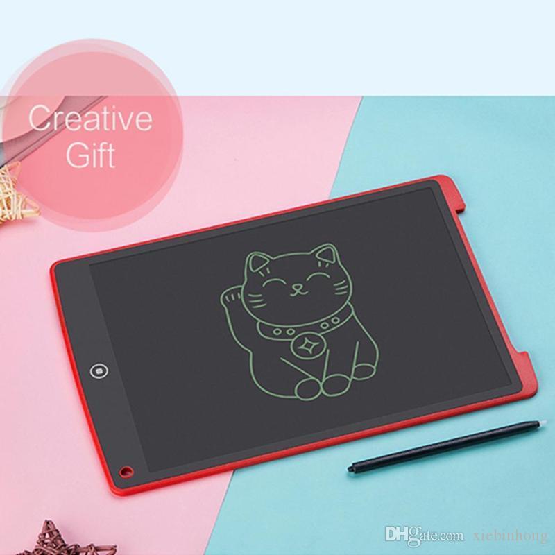 1 pz 12 pollici LCD Writing Tablet tavoletta digitale di disegno della scrittura a mano pastiglie elettronico portatile bordo ultra-sottile con penna